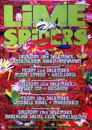 LIME SPIDERS - Australian Summer Tour