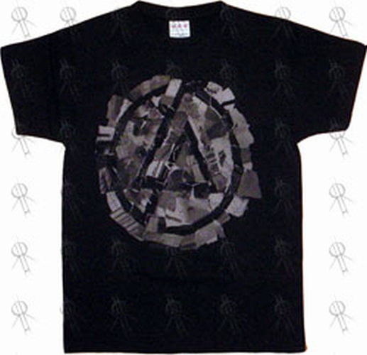 Linkin park black 39 camo logo 39 design girls t shirt for Camouflage t shirt design