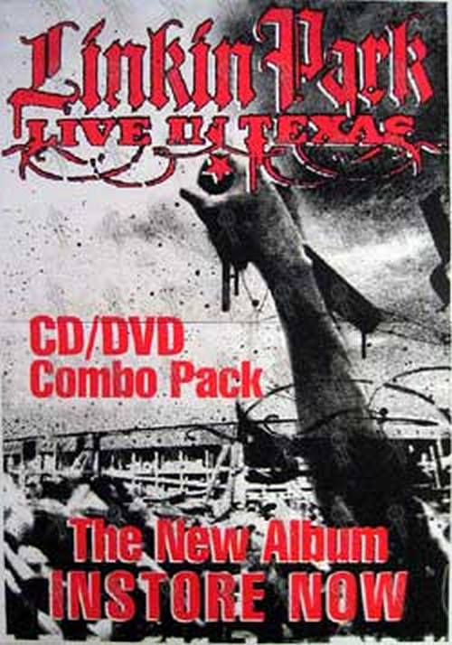 LINKIN PARK - 'Live In Texas' CD/DVD Poster 2003 - 1