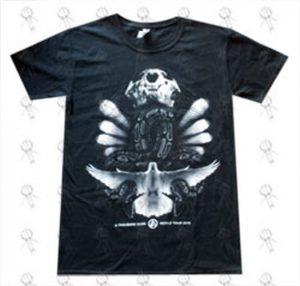 LINKIN PARK - 'Python Wrap / Voodoo' Design Black T-Shirt - 1