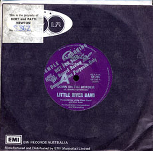 LITTLE RIVER BAND - Down On The Border - 1
