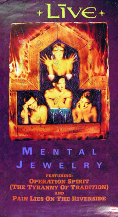 LIVE - 'Mental Jewelry' Album Poster - 1