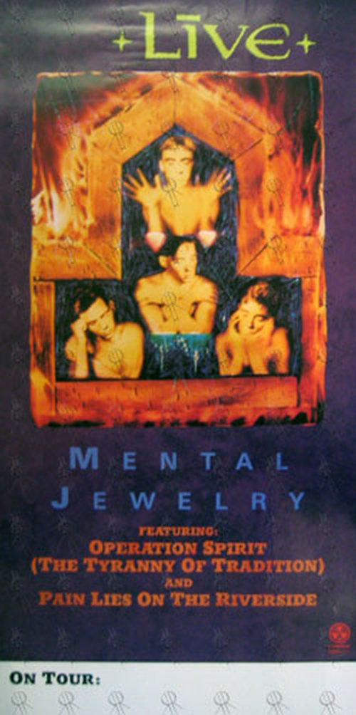 LIVE - 'Mental Jewelry' Tour Poster - 1