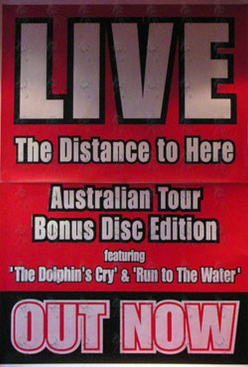 LIVE - 'The Distance To Here' Australian Tour Album Promo Poster - 1