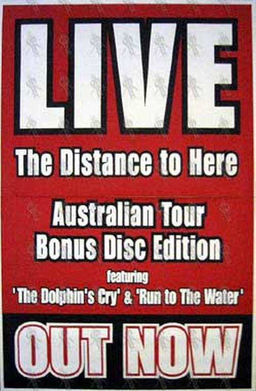 d543f8b0386ba LIVE -  The Distance To Here  Limited Edition Album Poster ...