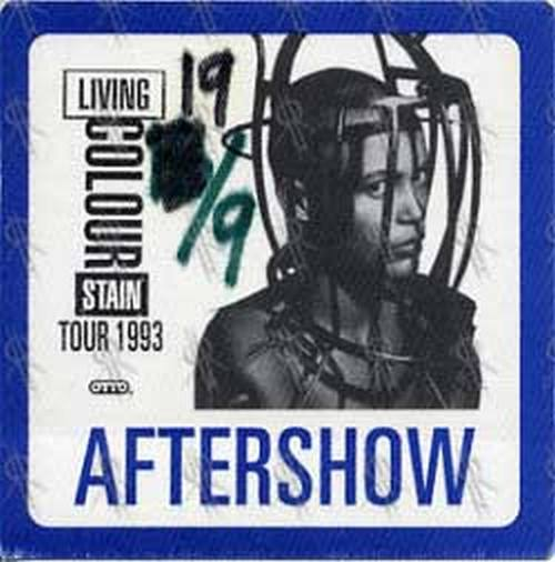 LIVING COLOUR - 'Stain' 1993 Tour Aftershow Pass - 1