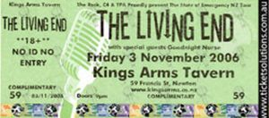 LIVING END-- THE - Kings Arm Tavern