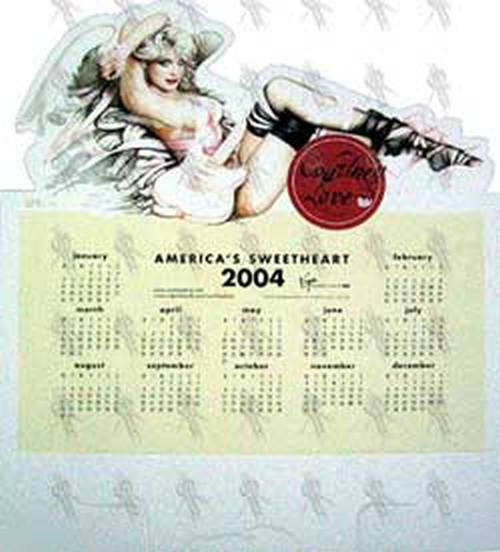 LOVE-- COURTNEY - 'America's Sweetheart' Stand Up Calendar - 1