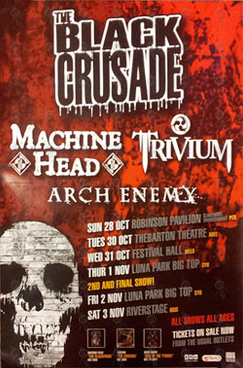 MACHINE HEAD|TRIVIUM|ARCH ENEMY - 'The Black Crusade' 2007 Australian Tour - 1