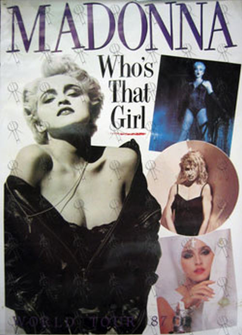 Madonna Who S That Girl World Tour 1987 Poster