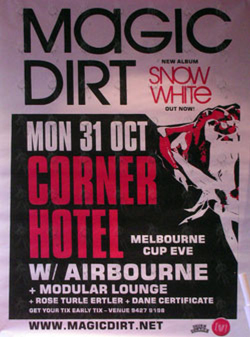 MAGIC DIRT|AIRBOURNE - Corner Hotel Melbourne - Monday 31 October 2006 - Show Poster - 1