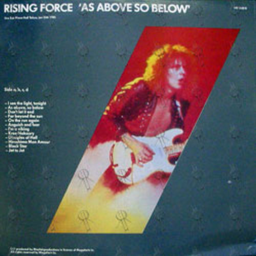 Malmsteen Yngwie As Above So Below 12 Inch Lp Vinyl