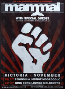 MAMMAL - 2007 Victorian Tour Poster - 1