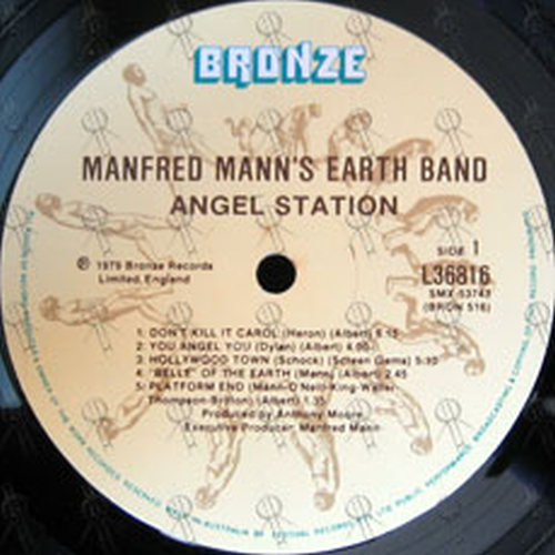 MANN'S-- MANFRED EARTH BAND - Angel Station - 3