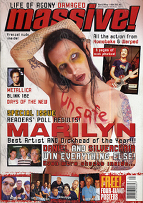 MANSON-- MARILYN - 'Massive!' - April/May 1998 - Marilyn Manson On Cover - 1
