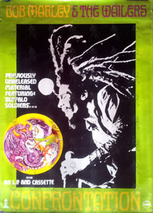 MARLEY-- BOB & THE WAILERS - 'Confrontation' Album Promo Poster - 1