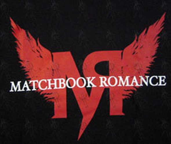 MATCHBOOK ROMANCE - Black Winged Logo T-Shirt - 2
