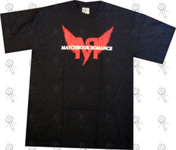 MATCHBOOK ROMANCE - Black Winged Logo T-Shirt - 1