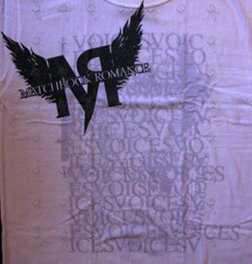 MATCHBOOK ROMANCE - White 'Voices Collage' Design T-Shirt - 2