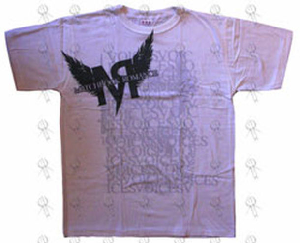 MATCHBOOK ROMANCE - White 'Voices Collage' Design T-Shirt - 1