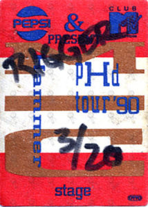 MC HAMMER - 'PHD Tour' 1990 Stage Hand Cloth Sticker Pass - 1