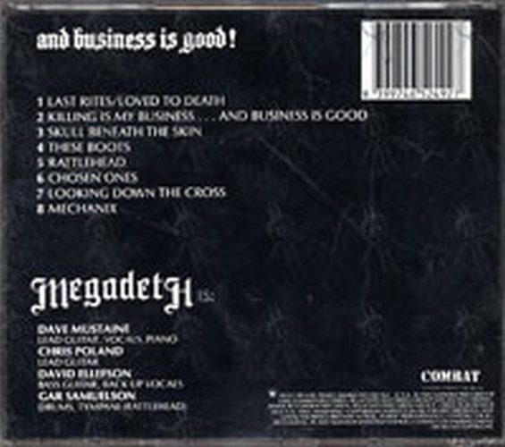 Megadeth Killing Is My Business And Business Is Good