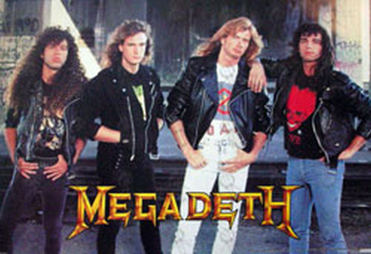 Megadeth Rust In Peace Classic Line Up Era Band
