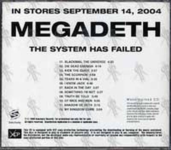 MEGADETH - The System Has Failed (CD) | Rare Records
