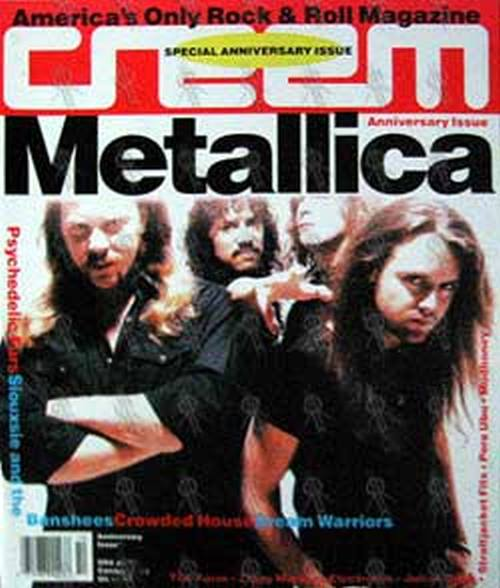METALLICA - 'Creem' - Special Anniversary Issue 1991 - Metallica On Cover - 1
