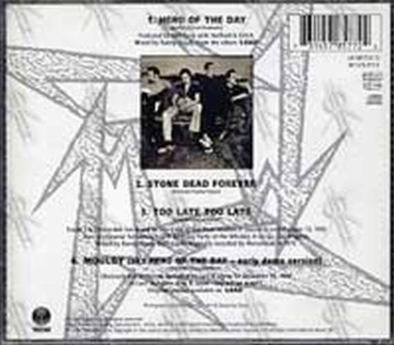 METALLICA - Hero Of The Day (Part 2 of a 2CD Set) - 2
