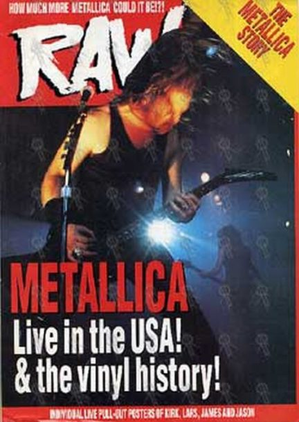 METALLICA - 'Raw' - Metallica Pull-Out Special - 1