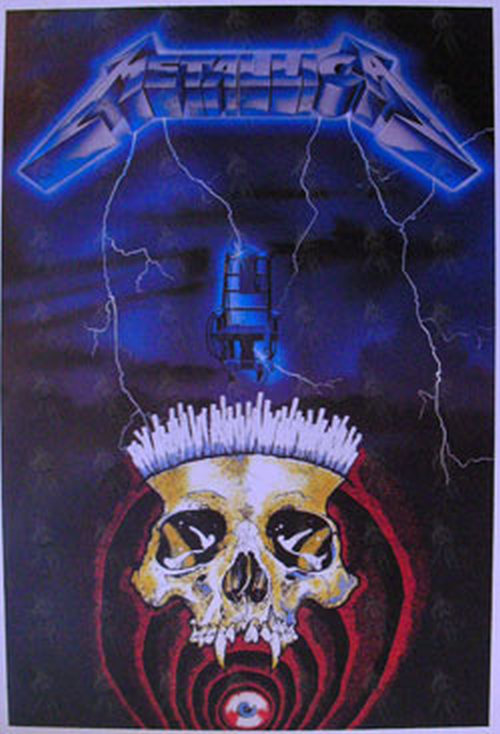 Metallica Ride The Lightning Era Skull Design Poster