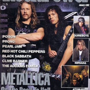 METALLICA - 'RockPower' - January 1992 - Metallica On Cover - 1