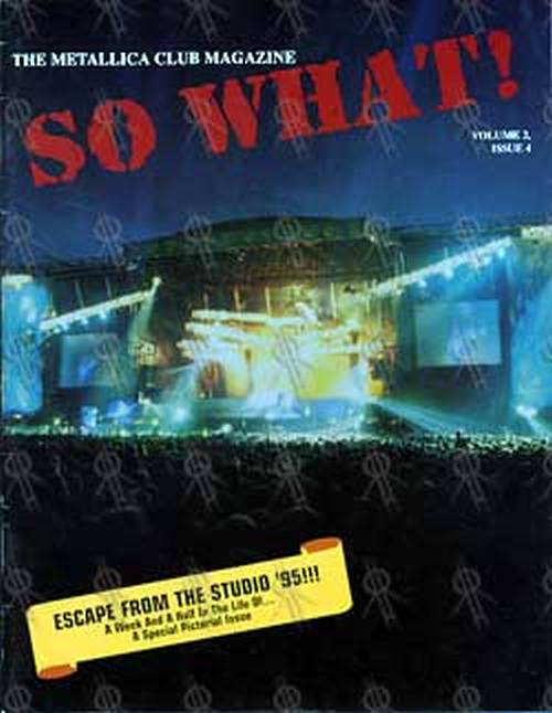 METALLICA - 'So What' Fan Club Magazine - 1