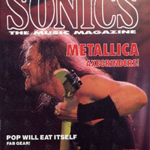 METALLICA - 'Sonics' - March 1990 - James Hetfield On Cover - 1
