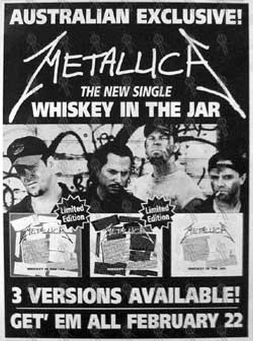 Metallica Whiskey In The Jar Single Poster Billboard Sizes