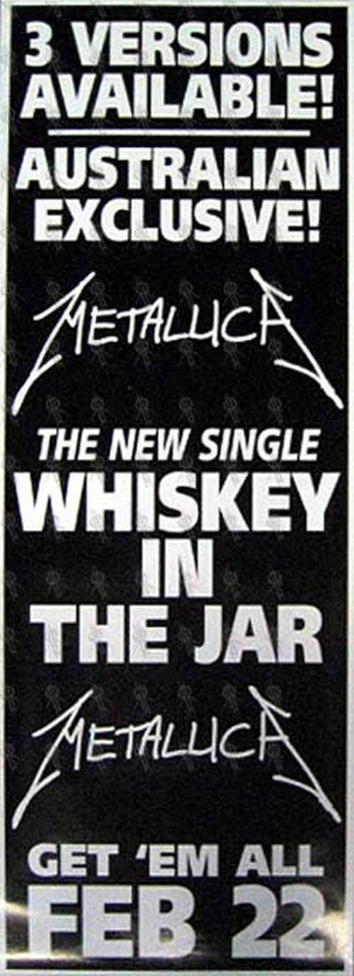 METALLICA - 'Whiskey In the Jar' Single Poster - 1