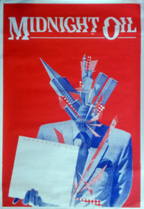 MIDNIGHT OIL - 10 To 1 Era Blank 1983 Gig Poster - 1