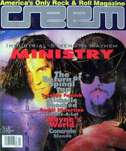 MINISTRY - 'Creem' - April 1992 - Ministry On Cover - 1