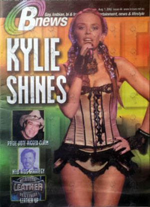825baae976f  BNews  Magazine – 1st August 2002 – Kylie Minogue On Cover