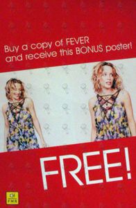 MINOGUE-- KYLIE - Double Sided 'Fever' Album Promo Display - 1