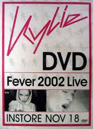 MINOGUE-- KYLIE - 'Fever 2002 Live' DVD Poster - 1