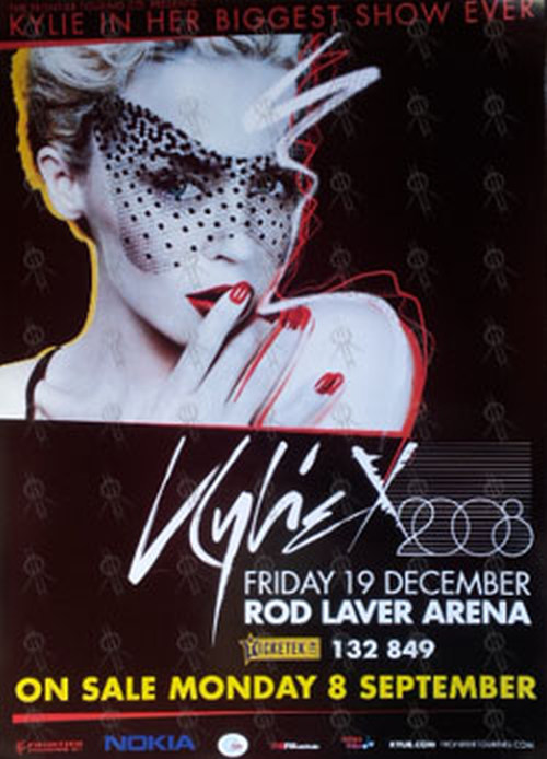MINOGUE-- KYLIE - 'Kylie X' 19 December - Rod Laver Arena Gig Poster - 1