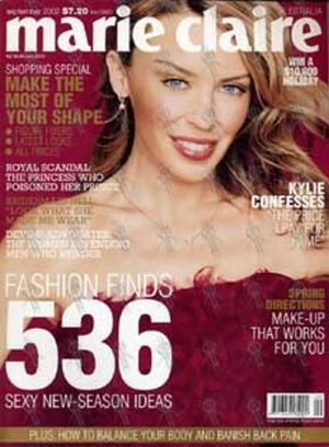 MINOGUE-- KYLIE - 'Marie Claire' - September 2002 - Kylie On The Cover - 1
