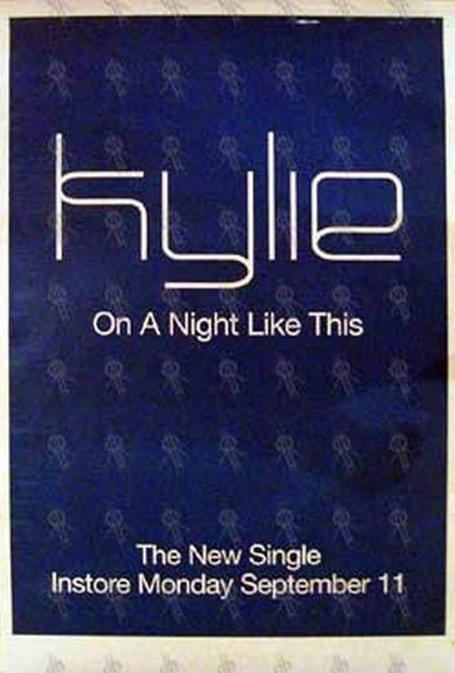 MINOGUE-- KYLIE - 'On A Night Like This' Single Poster - 1