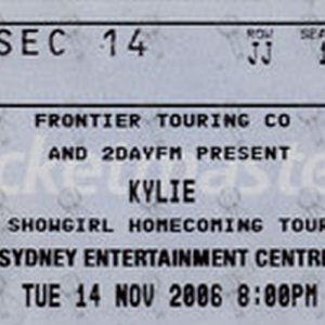MINOGUE-- KYLIE - Sydney Entertainment Center