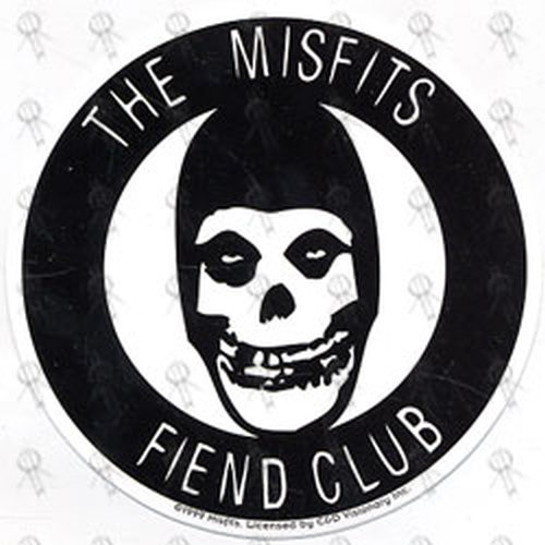 Misfits Black And White Fiend Club Sticker