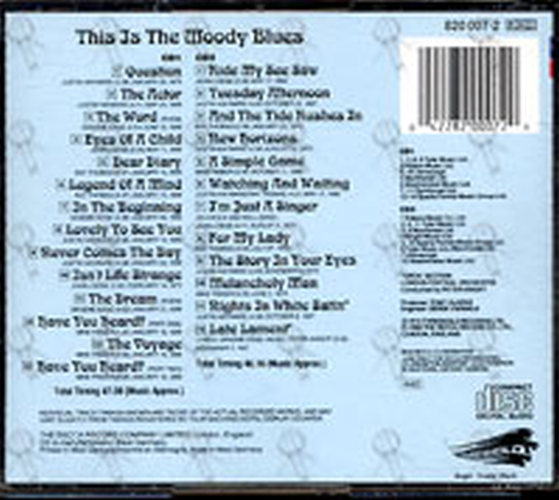 Moody Blues The This Is The Moody Blues Album Cd