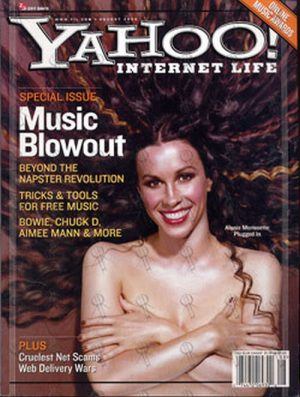 MORISSETTE-- ALANIS - 'Yahoo! Internet Life' - August 2000 - Alanis Morissette On Cover - 1