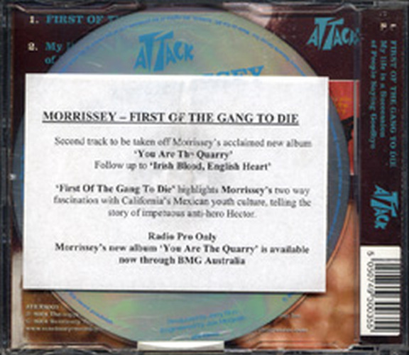 Morrissey - First Of The Gang To Die